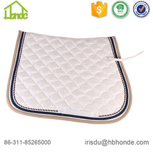 White Dressage Fish Pattern Cotton Horse Saddle Pad