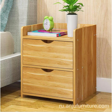 Colorful Veneer cabinet nighstand two drewers