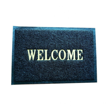 Custom material PVC backed floor welcome mat
