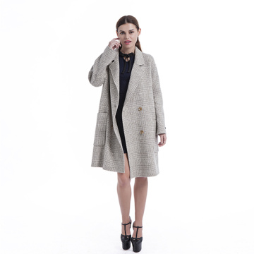 Women's  Classic double-breasted cashmere overcoat