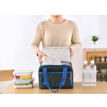Convenient portable package lunch box cooler bag