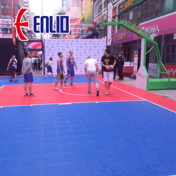 Enlio Plastic Basketball Outdoor Modular Court Tiles Floor