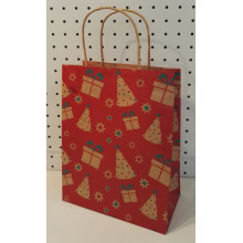 Free sample for Natural Brown Kraft Paper Bag Christmas Art Decorating Gift Bags export to Niger Supplier