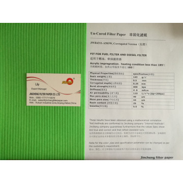 Acrylic Fuel Filter Paper