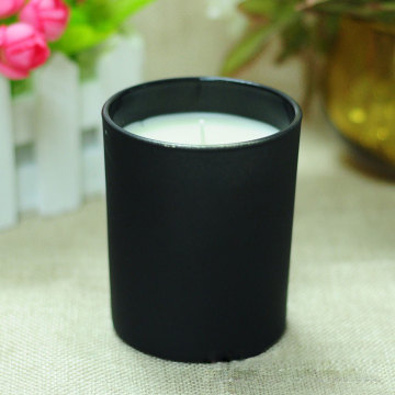 nature aroma black jar soy candles scented