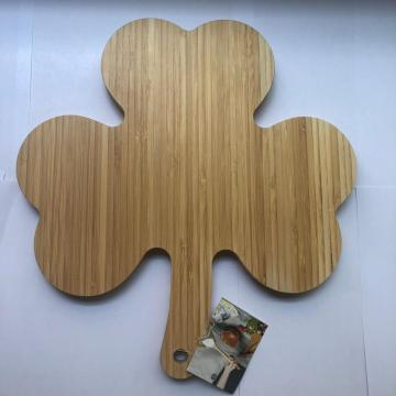 Clover shape bamboo cutting board