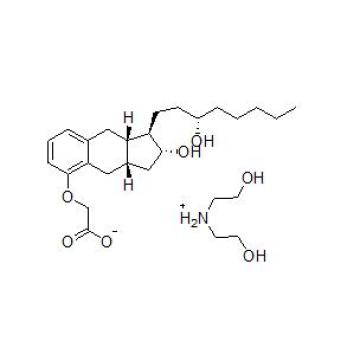 Synthetic Analog of Prostacyclin Treprostinil Diethanolamine CAS 830354-48-8