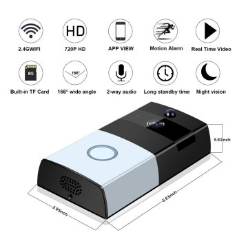 WIFI smart doorbell with camera app