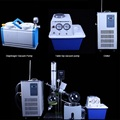 Manual lifting vacuum rotary evaporator with water bath