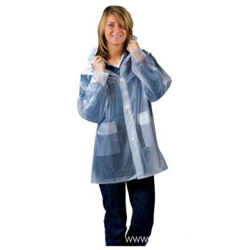 Adult Waterproof PVC Raincoats For Women