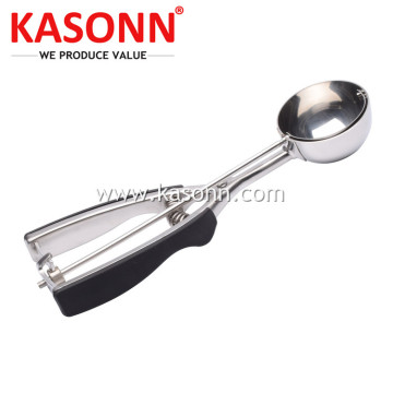Scooper Es Krim Stainless Steel dengan Gagang Anti Selip