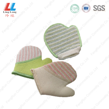 Loofah massaging gloves multipurpose item
