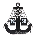 Silent movement Metal Anchor Flip clock
