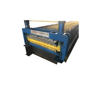 Professional double deck roof tile making machine