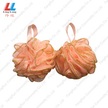 China for Loofah Mesh Bath Sponge Elegant bath puff loofah mesh pouf bath sponge export to Spain Manufacturer