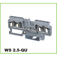 4 Way Feed-Through Spring Terminal Block 2.5mm2