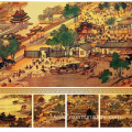 Hand Embroidered Riverside Scene At Qingming Festival