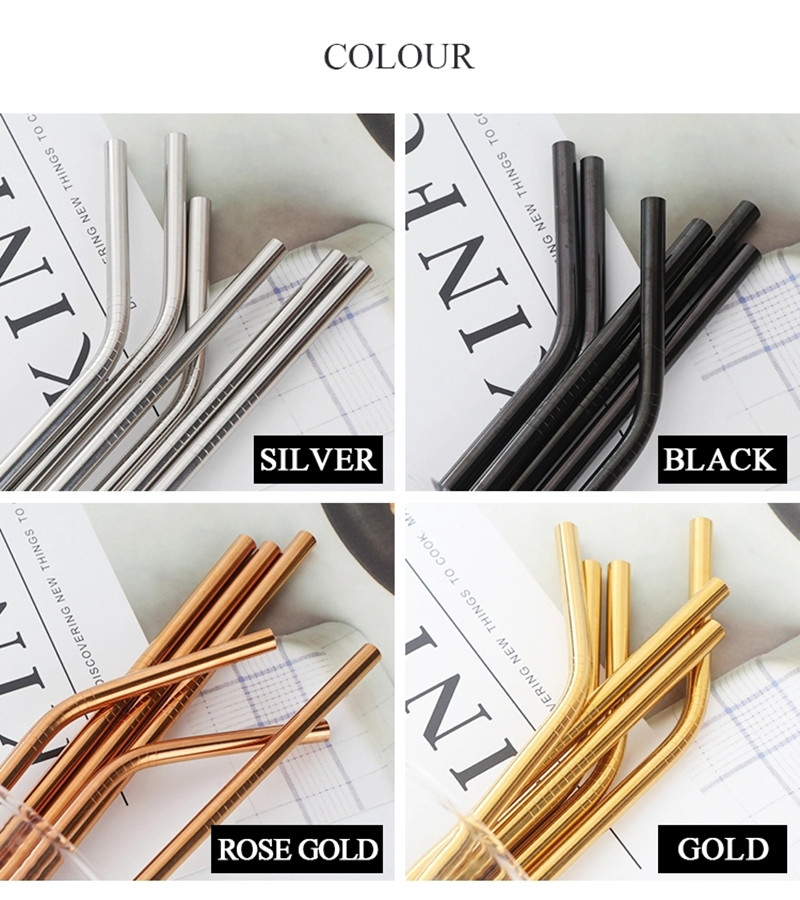 18-8 Rainbow Stainless Steel Straw