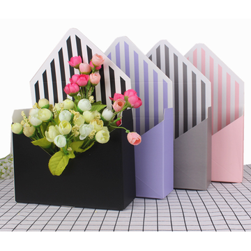 Envelope shape flower gift box