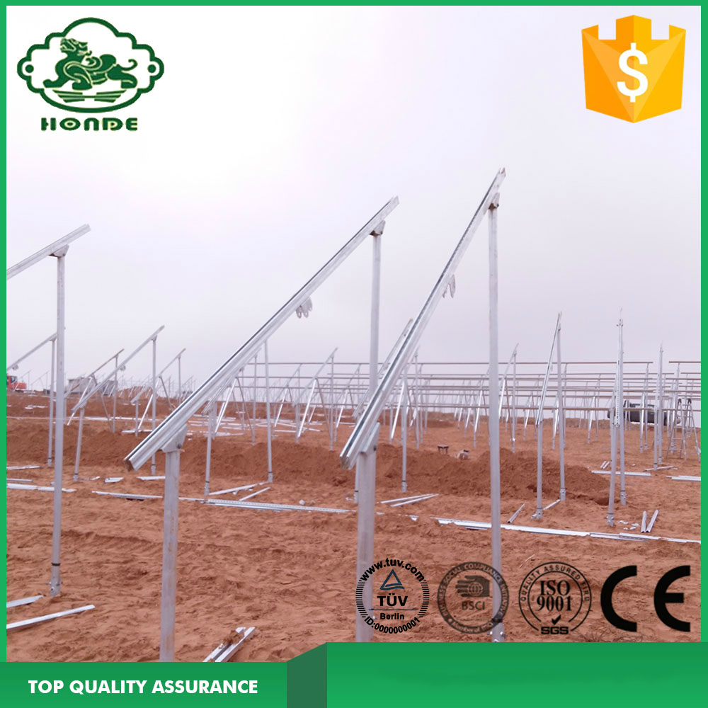 Galvanized Steel Screw Pole Mounting System