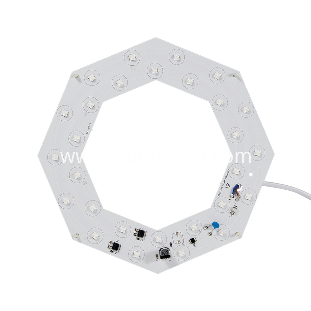 Bottom picture of AC linear Lens white light 14W ceiling module