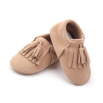 Fashion Soft Leather Baby Moccasins Tassel Shoes