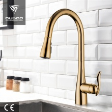 Plated Gold Single Hole Tap Faucets With Spray