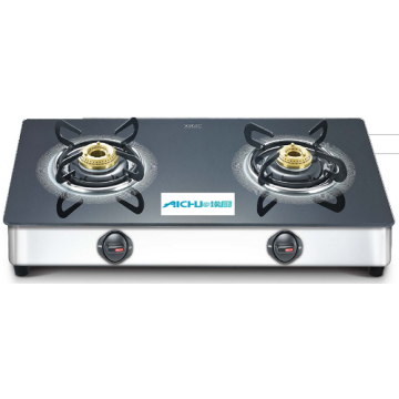 Toughened Glass Top Gas Stove 2 Burners