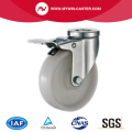 3'' Bolt Hole Swivel Industrial PP Caster With Brake