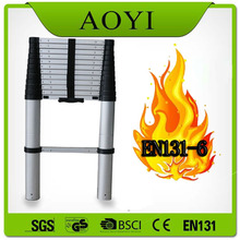 EN131-6 standard aluminum telescopic ladder