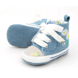 Wholesale Cotton Laces Pre-walker Baby Sports Shoes