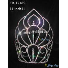 New Product for Gold Pageant Crowns and Tiaras, Sunflower Crown, Rhinestone Pageant Crowns. Large tiara cheap pageant crown CR-12185 export to Kuwait Factory