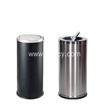Stainless Steel Airtight Garbage Can With Swing Lid