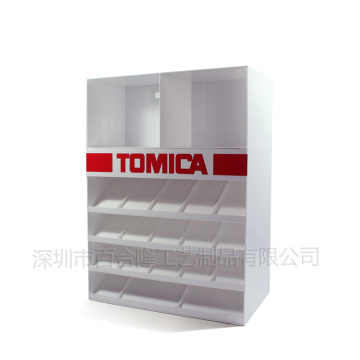 Custom made acrylic toy shelf