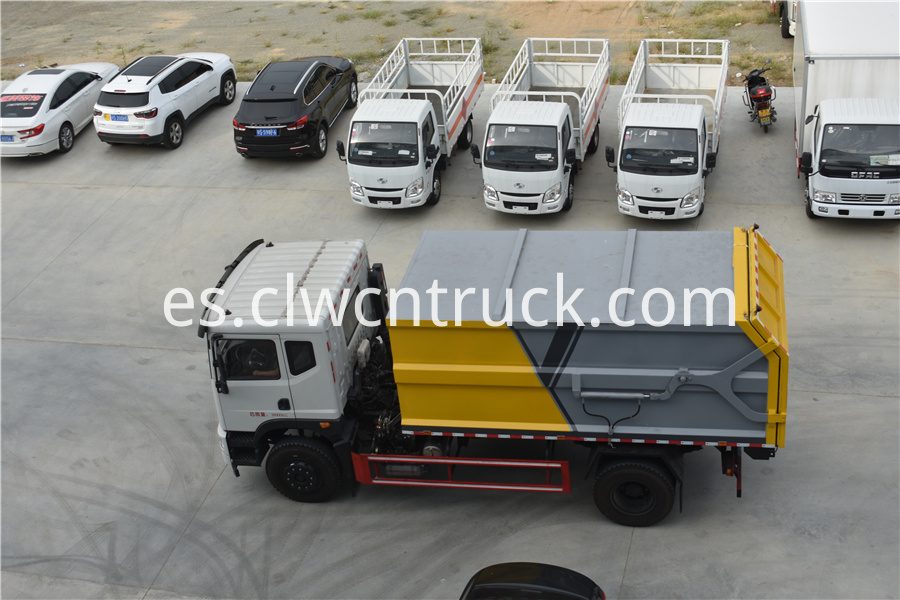municipal solid waste collection truck pictures