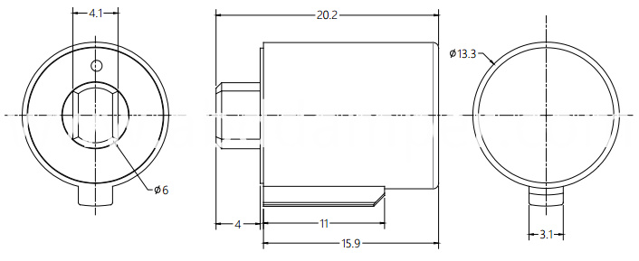 Floor Sockets Shaft Damper Drawing