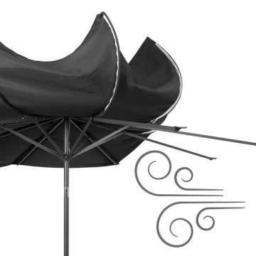 Rotating Garden Restaurant Sun Patio Umbrella