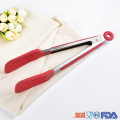 Non-slip Silicone Bread Food BBQ Tongs