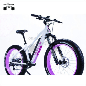 Pink color women fat tire electric bike