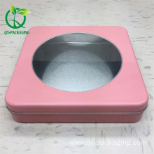 Custom pink  tin box