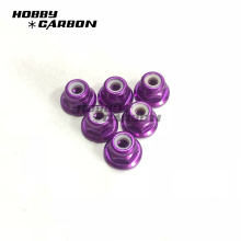 Anodized Aluminum Nylon Lock Nuts by Metric