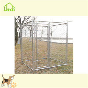 Large portable metal chain link dog kennel crate