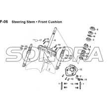 F-06 Steering Stem Front Cushion JET 14 XS175T-2 For SYM Spare Part Top Quality