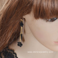 Black Lace Tassel Long Earring Wholesale Sexy Flower Earring