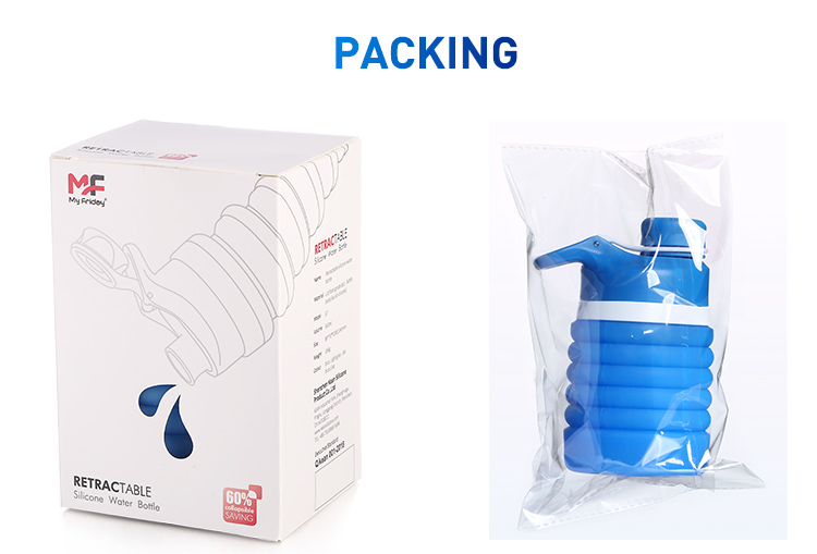 collapsible water bottle package