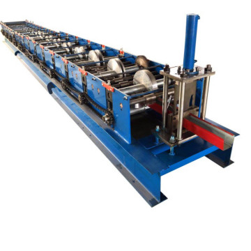 Gutter roofing sheet machine