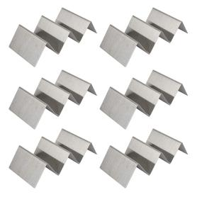 Set of 6 pcs stainless steel taco holder
