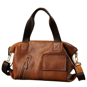 Leather Travel Tote Shoulder Bag Handbag