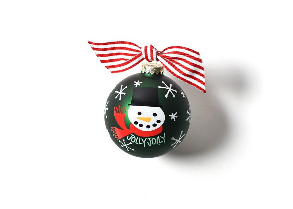 Snowman Christmas Glass Ball