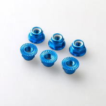 M5 Anodished Aluminum Serrated Flange lock nut